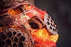 Ramalhete incomum para o casamento do outono fotografia de stock