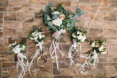 Ramalhete lindo bonito do casamento do ramalhete A do casamento do verão na foto de stock