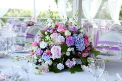 Ramalhete muito bonito das flores para celebrações do casamento Foto de Stock