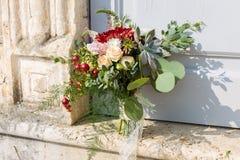 Ramalhete nupcial com planta carnuda imagem de stock royalty free