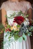 Ramalhete nupcial com planta carnuda Fotos de Stock Royalty Free