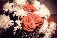 Ramalhete nupcial de rosas bonitas para um casamento Imagem de Stock Royalty Free