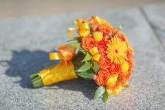 Ramalhete nupcial de várias flores Imagens de Stock Royalty Free