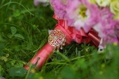 Ramalhete nupcial de várias flores Foto de Stock