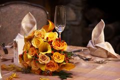 Ramalhete nupcial do casamento Imagens de Stock
