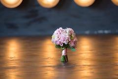 Ramalhete nupcial do casamento cor-de-rosa Foto de Stock