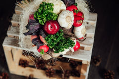 Ramalhete original dos vegetais e dos frutos Fotografia de Stock Royalty Free