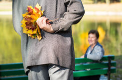Ramalhete outonal das folhas Fotos de Stock