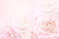 Ramalhete pastel e macio do casamento com rosas cor-de-rosa fotos de stock