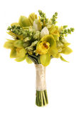 Ramalhete verde do casamento da orquídea Fotografia de Stock Royalty Free