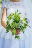 Ramalhete verde do casamento no estilo rústico Imagem de Stock Royalty Free