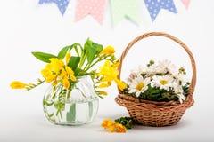 Ramalhetes das flores Apenas chovido sobre beleza Foto de Stock
