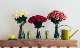 Ramalhetes das rosas Fotografia de Stock