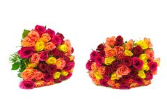 Ramalhetes das rosas isoladas no fundo branco Imagem de Stock