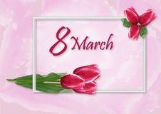 Ramalhetes das tulipas do cartão Imagens de Stock