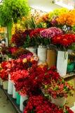 Ramalhetes de flores artificiais no florista Imagens de Stock Royalty Free