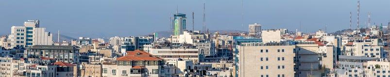 Ramallah skyline. Panorama of the skyline of Ramallah Palestine stock photo