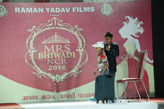 Raman Yadav Films. Mrs. Bhiwadi NCR Faishon Show was conducted by Raman Yadav where many Womens had Taken part Stock Photo