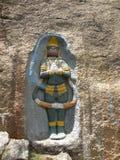 Ramanagara, Karnataka, Ινδία - 29 Μαΐου 2010 αρχαία ανακούφιση bas του Λόρδου Hanuman στους τοίχους του ναού στοκ φωτογραφία με δικαίωμα ελεύθερης χρήσης