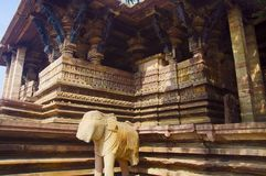 Ramappa tempel, Palampet, Warangal, Telangana, Indien royaltyfri foto