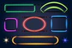 Ramar för neonljus royaltyfri illustrationer