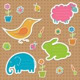 Ramar för text för ÃÂ-¡ ute i formen av djur Arkivbild
