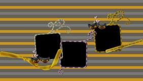 Ramar och linjer bakgrund royaltyfri illustrationer