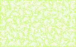 Ramas blancas con las hojas y puntos en fondo verde claro foto de archivo libre de regalías