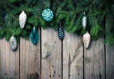 Ramas con las decoraciones de la Navidad Foto de archivo
