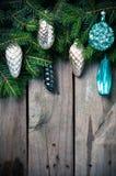 Ramas con las decoraciones de la Navidad Fotos de archivo