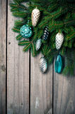 Ramas con las decoraciones de la Navidad Imagen de archivo libre de regalías