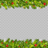 Ramas de árbol de navidad en vector transparente del fondo Fotos de archivo libres de regalías