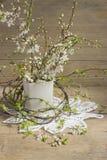 Ramas de la cereza floreciente Foto de archivo