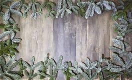 Ramas de madera de la Navidad del fondo Foto de archivo libre de regalías