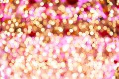 Ramas del árbol de navidad y de las luces coloreadas Imagen de archivo