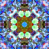 Ramas del follaje del fractal de la acuarela Imagenes de archivo