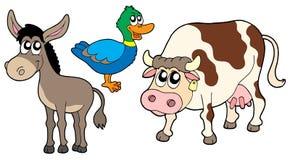 Ramassage 3 d'animaux de ferme Images libres de droits