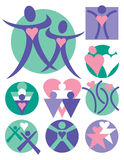 Ramassage 9 de logos de gens Illustration de Vecteur
