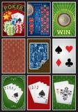 Ramassage d'éléments de casino illustration libre de droits