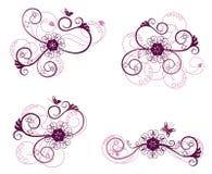 Ramassage d'éléments de conception florale illustration stock