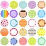 Ramassage d'étiquettes de vecteur dans la couleur en pastel Images libres de droits