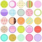 Ramassage d'étiquettes de vecteur dans la couleur en pastel Photos libres de droits