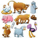 Ramassage d'animaux de ferme illustration libre de droits