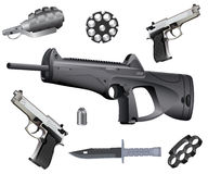 Ramassage d'armes Photographie stock