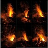 Ramassage d'incendie image libre de droits