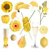 Ramassage d'objets jaunes photo libre de droits