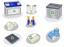ramassage de batteries Photos libres de droits
