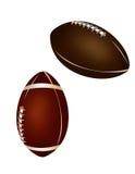Ramassage de bille - bille de football américain et de rugby Photographie stock libre de droits