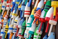 Ramassage de bouée de trappe de langoustine Images libres de droits