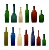 Ramassage de bouteilles en verre Image stock
